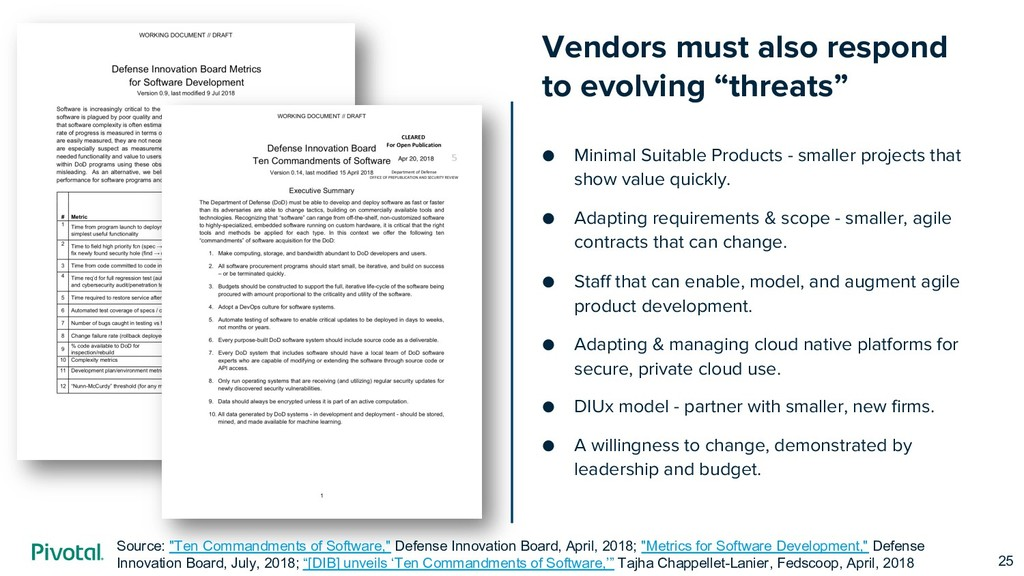 "Vendors must also respond to evolving ""threats""..."