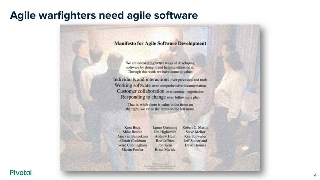 Agile warfighters need agile software 4