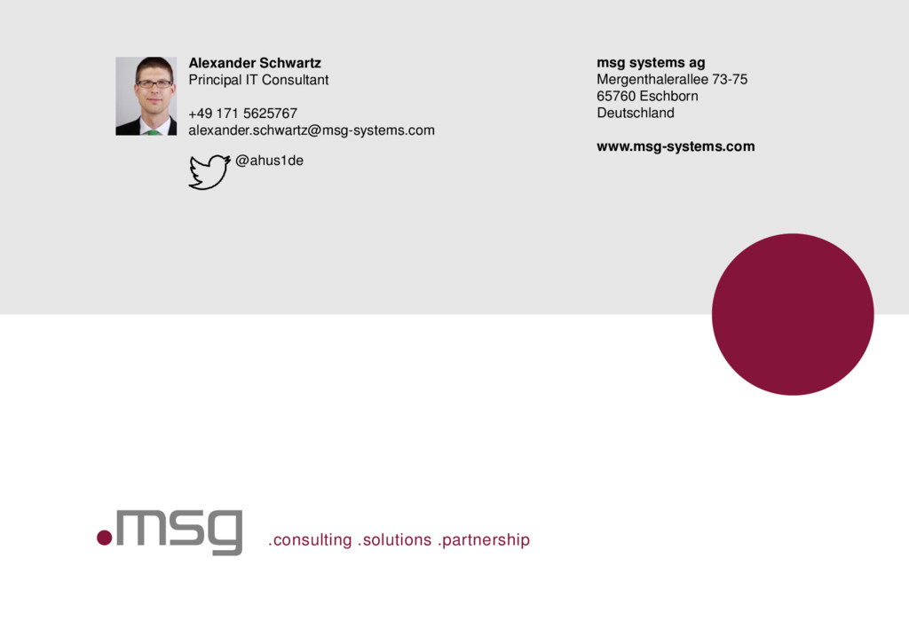 .consulting .solutions .partnership Alexander S...