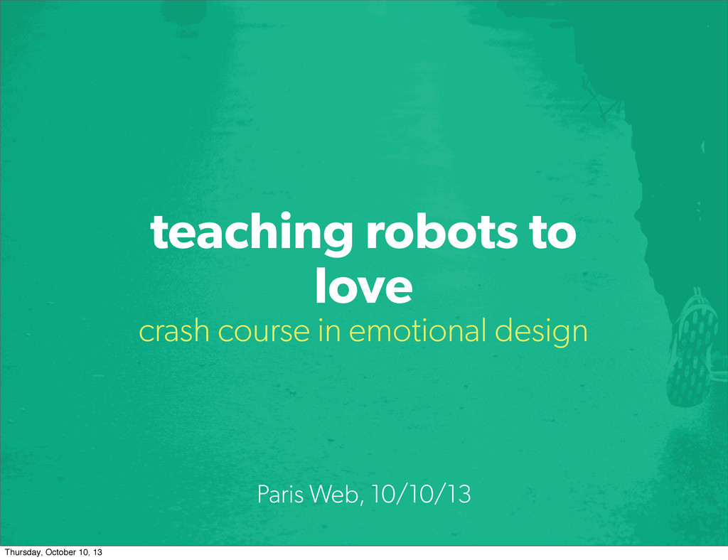teaching robots to love crash course in emotion...