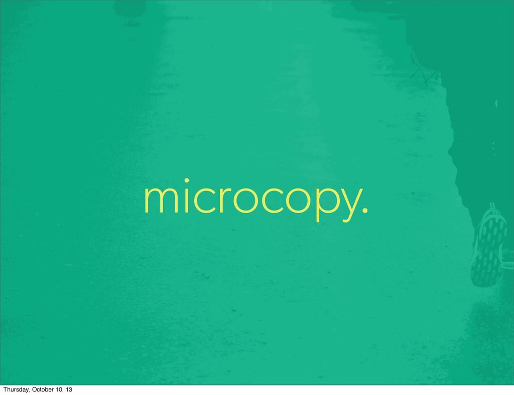 microcopy. Thursday, October 10, 13