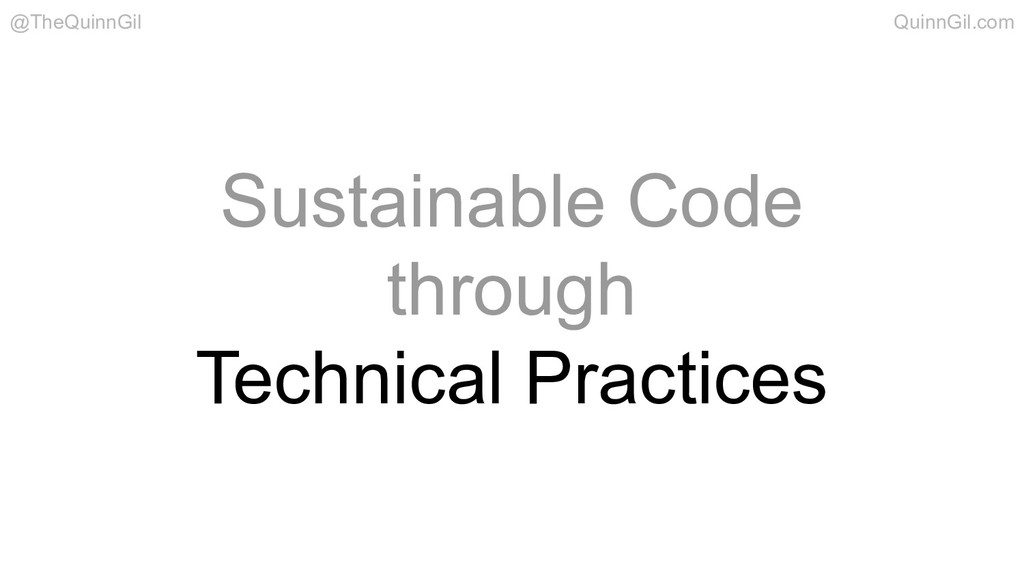 Sustainable Code through Technical Practices @T...
