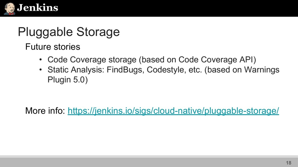Pluggable Storage Future stories • Code Coverag...