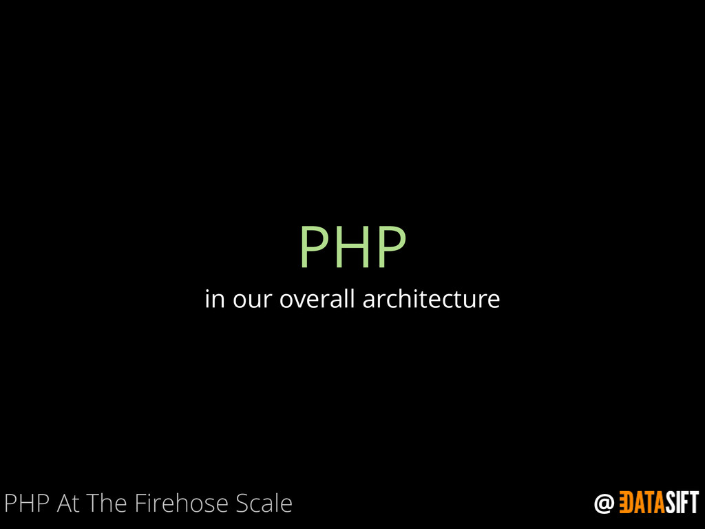 @ PHP in our overall architecture PHP At The Fi...