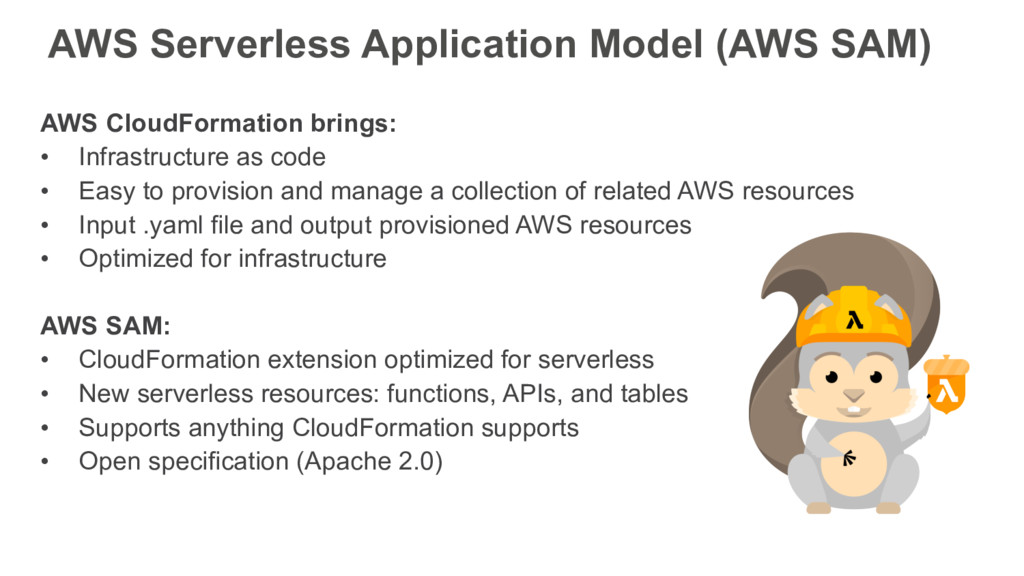 AWS CloudFormation brings: • Infrastructure as ...