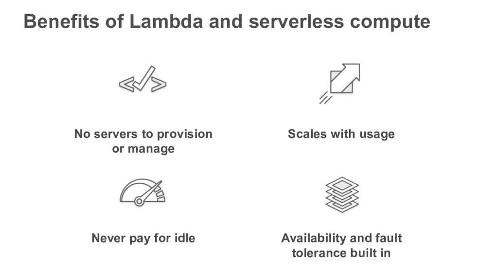 No servers to provision or manage Scales with u...