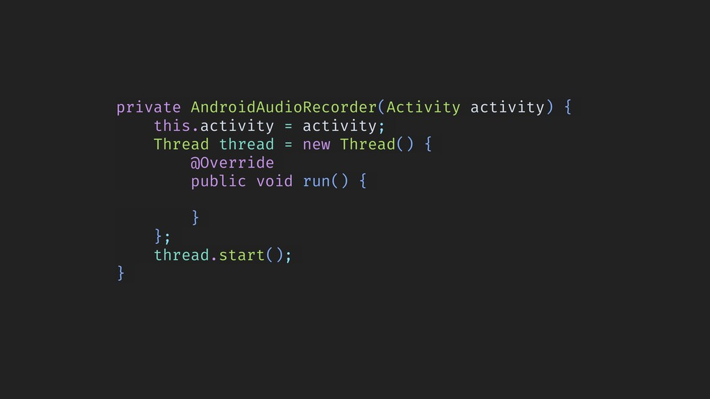 private AndroidAudioRecorder(Activity activity)...