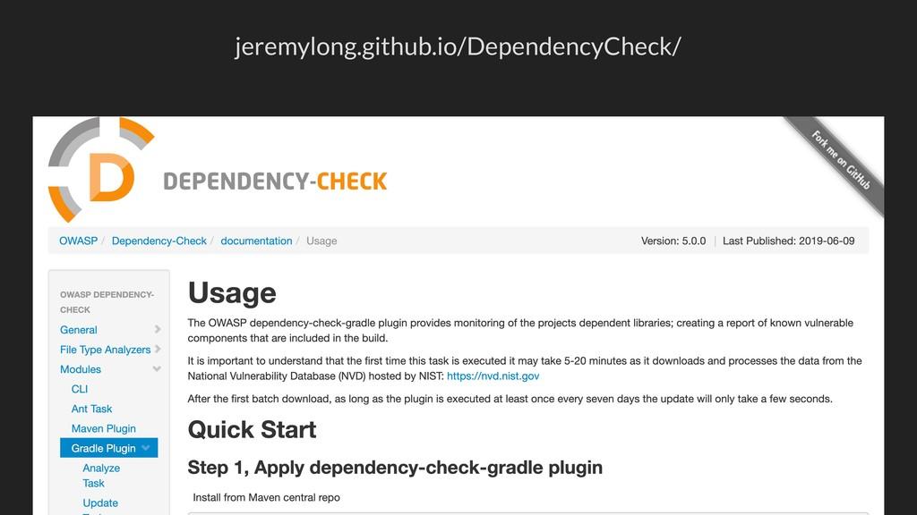 jeremylong.github.io/DependencyCheck/