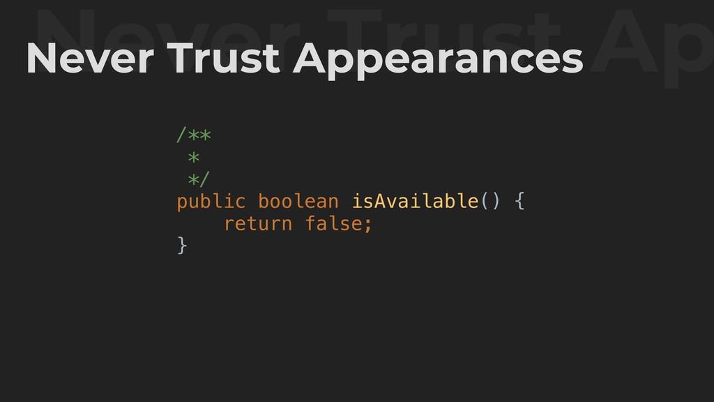 /** * */ public boolean isAvailable() { return ...