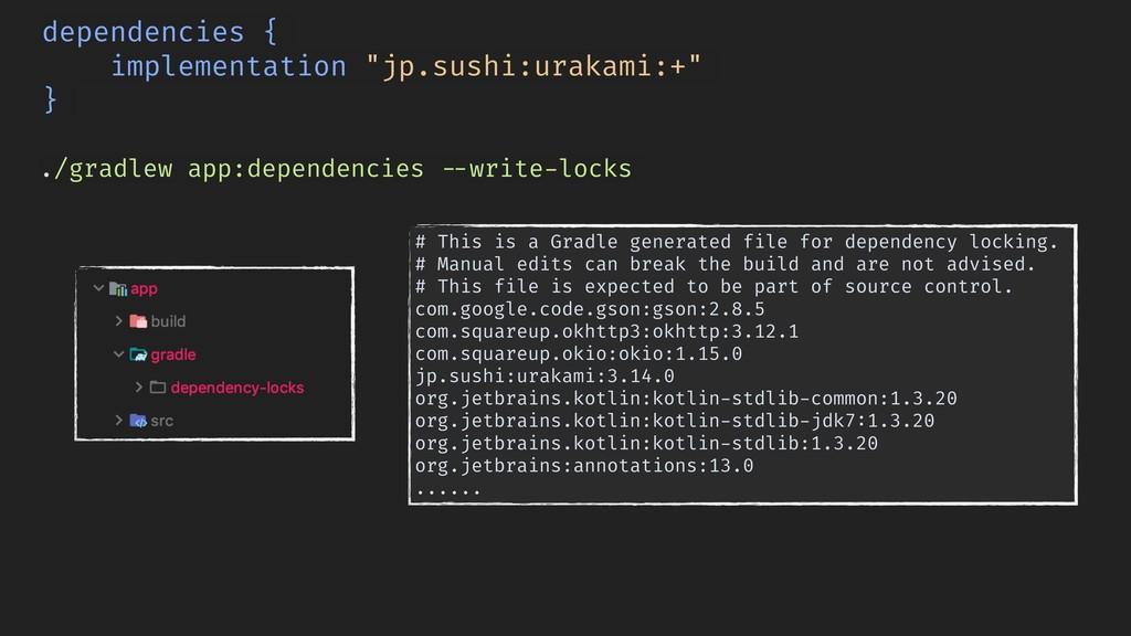 ./gradlew app:dependencies !--write-locks depen...
