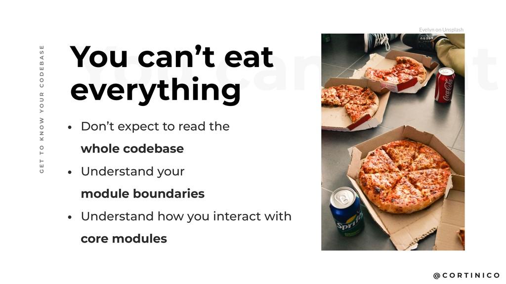 @ C O R T I N I C O You can't eat You can't eat...