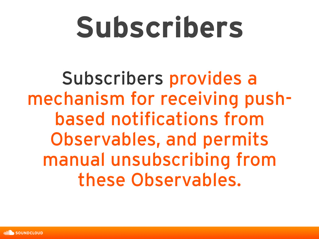 Subscribers Subscribers provides a mechanism fo...