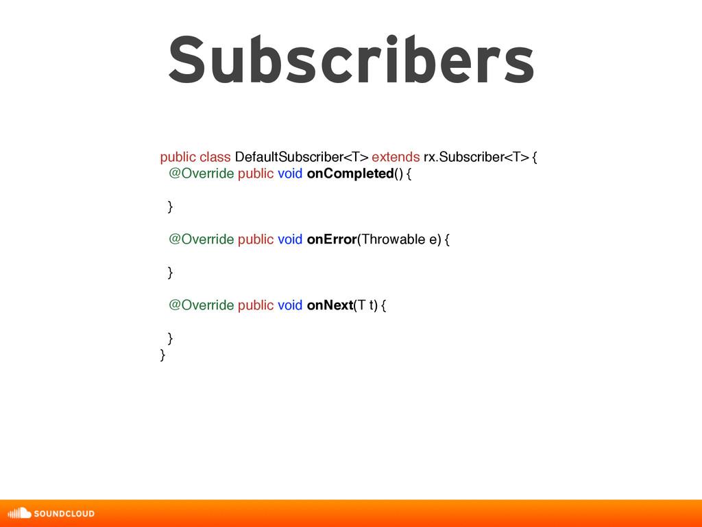 Subscribers public class DefaultSubscriber<T> e...