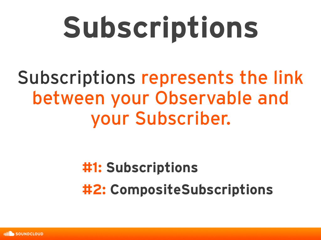 Subscriptions Subscriptions represents the link...