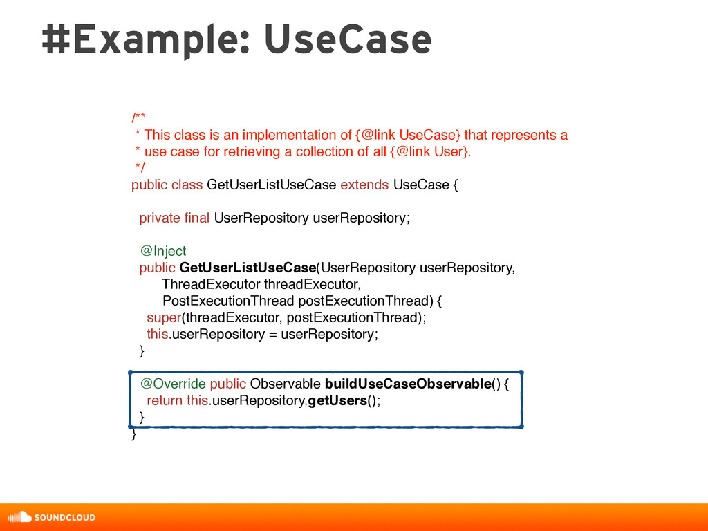 #Example: UseCase /** * This class is an implem...