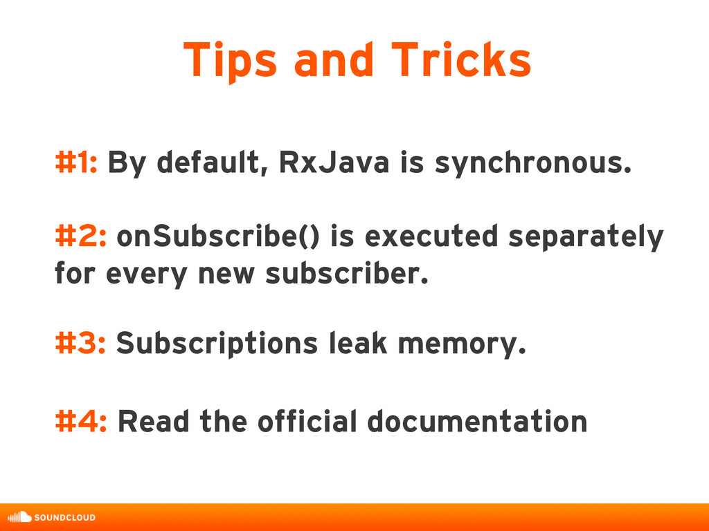 #1: By default, RxJava is synchronous. #2: onSu...