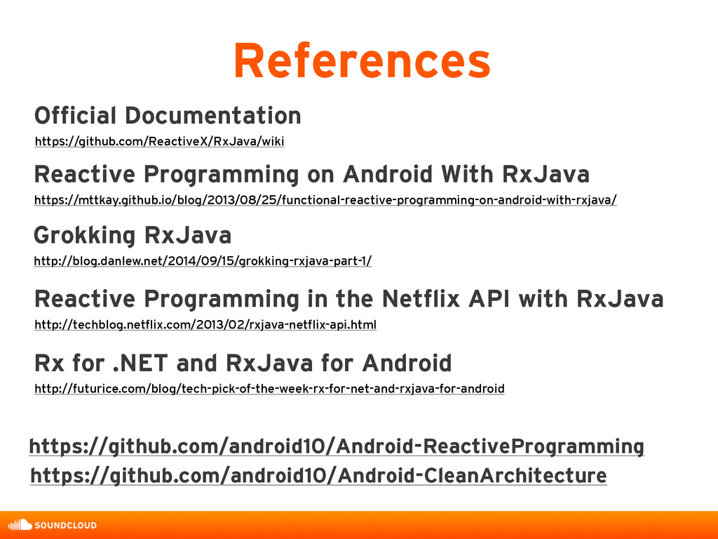References Reactive Programming on Android With...