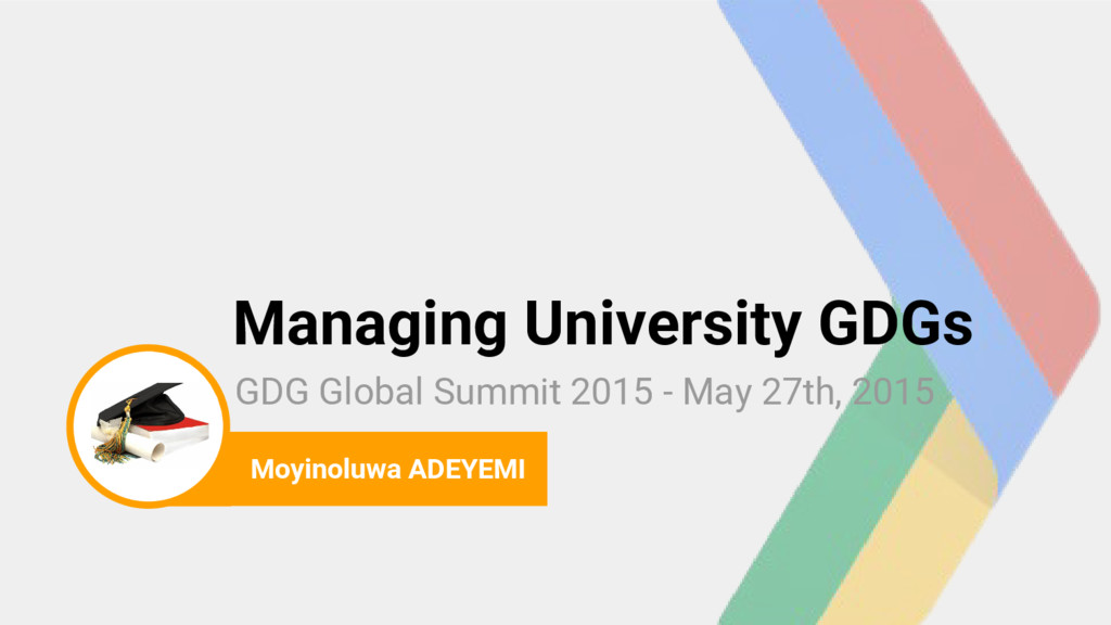 photo Managing University GDGs GDG Global Summi...