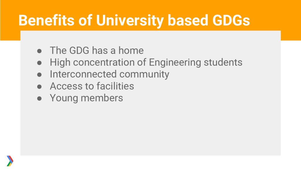 ● The GDG has a home ● High concentration of En...