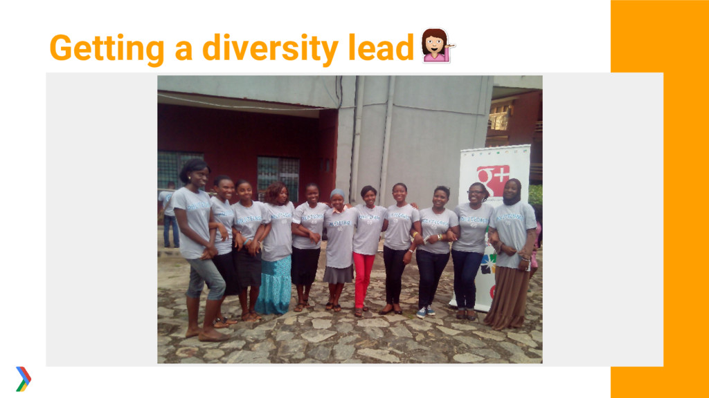 Getting a diversity lead
