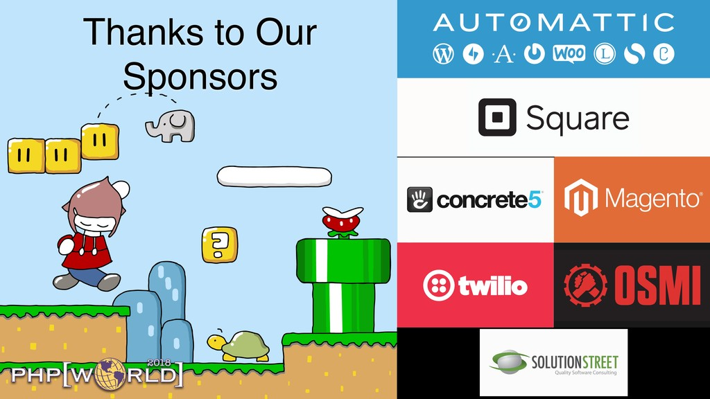 Thanks to Our Sponsors 2018