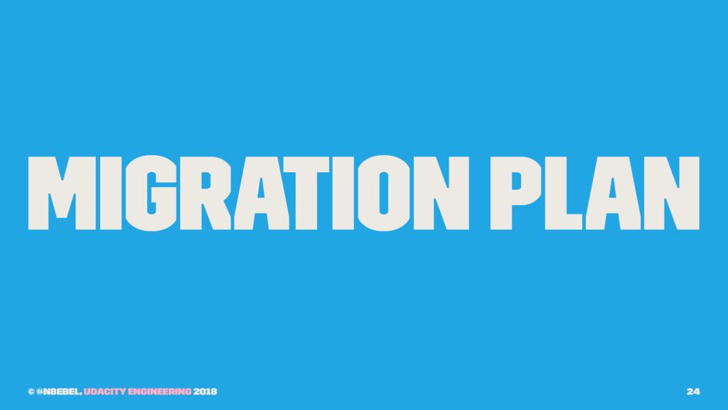 Migration Plan © @n8ebel, Udacity Engineering 2...