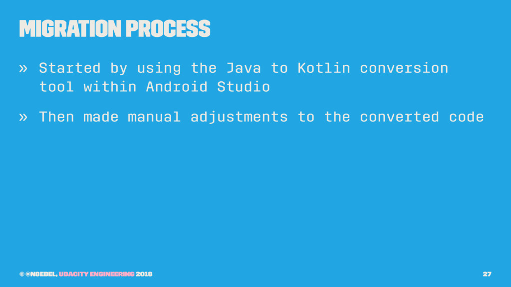 Migration Process » Started by using the Java t...