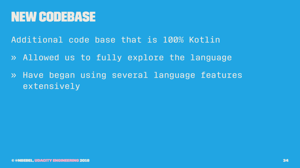 New Codebase Additional code base that is 100% ...