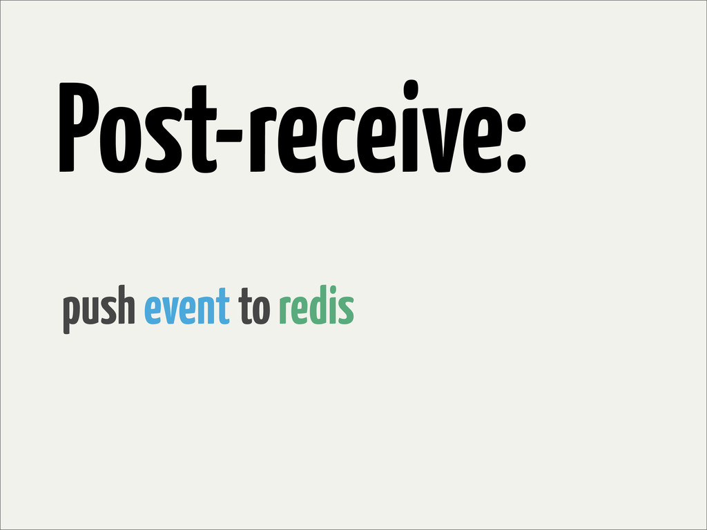 Post-receive: push event to redis