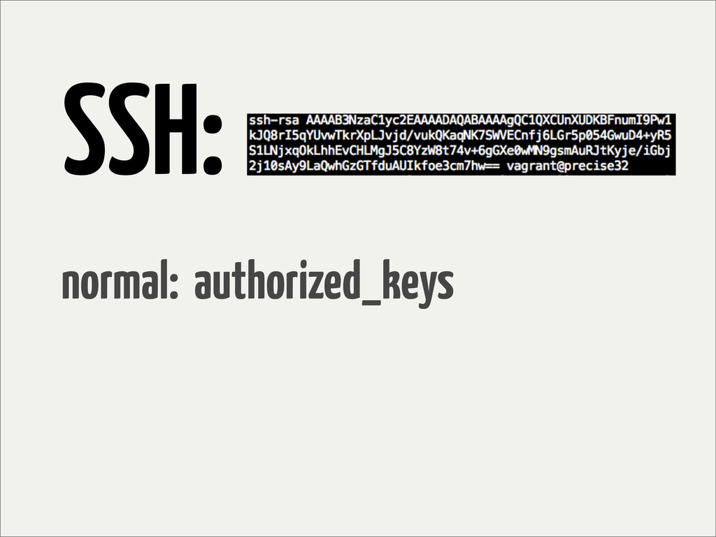 SSH: normal: authorized_keys