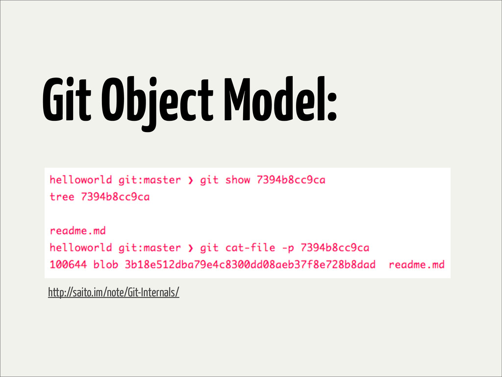 Git Object Model: http://saito.im/note/Git-Inte...