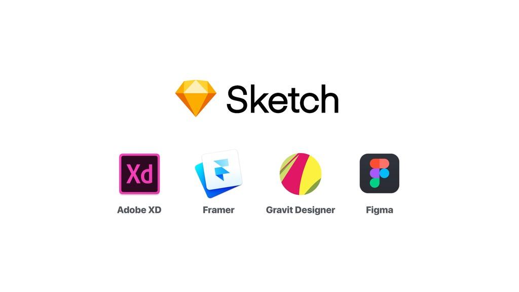 Adobe XD Framer Gravit Designer Figma