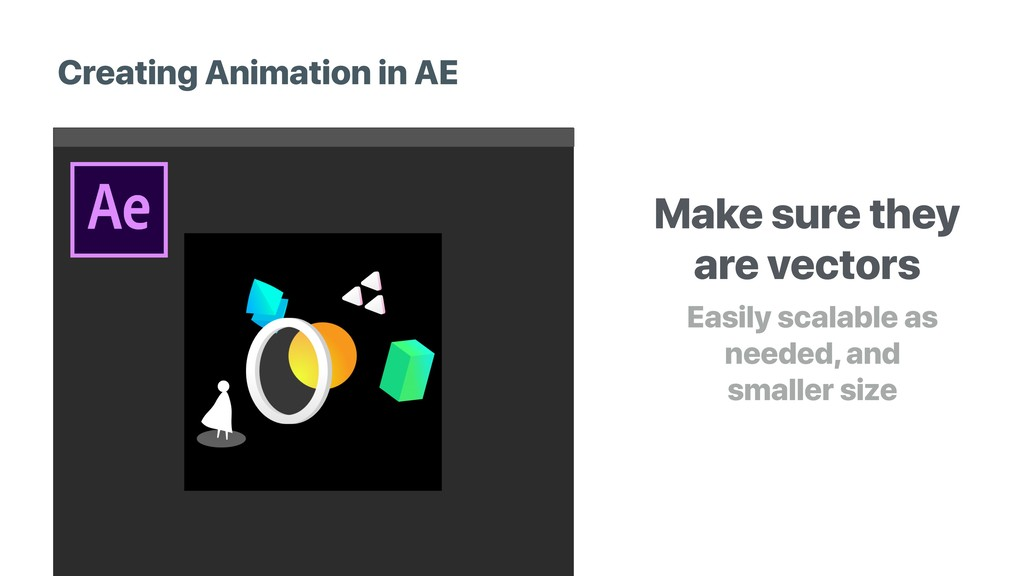 Creating Animation in AE Make sure they are vec...