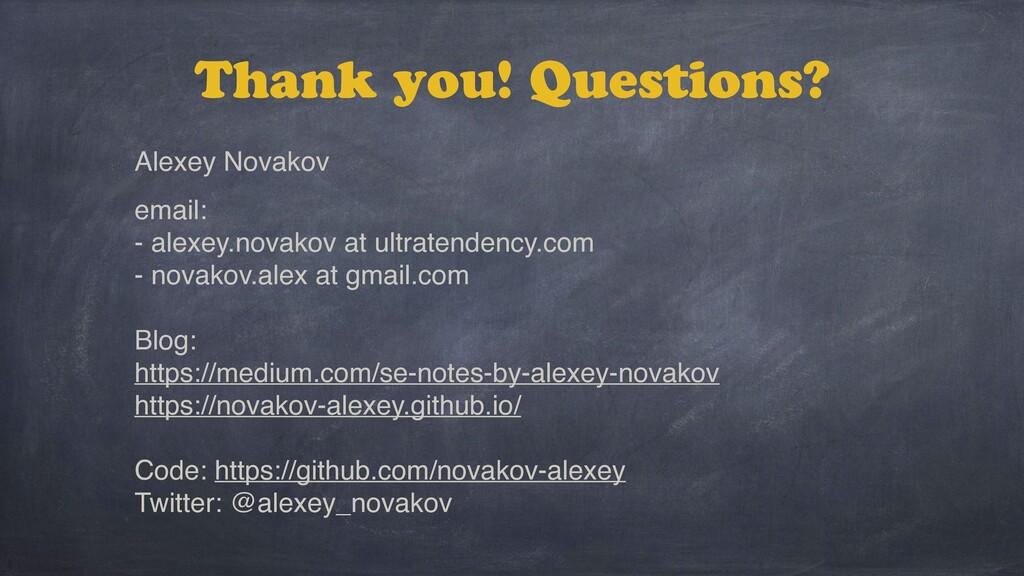 Alexey Novakov email: - alexey.novakov at ultra...
