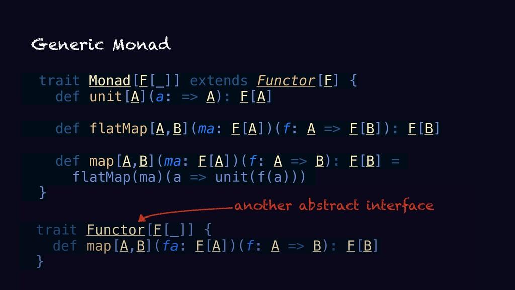 trait Functor[F[_]] { def map[A,B](fa: F[A])(f:...