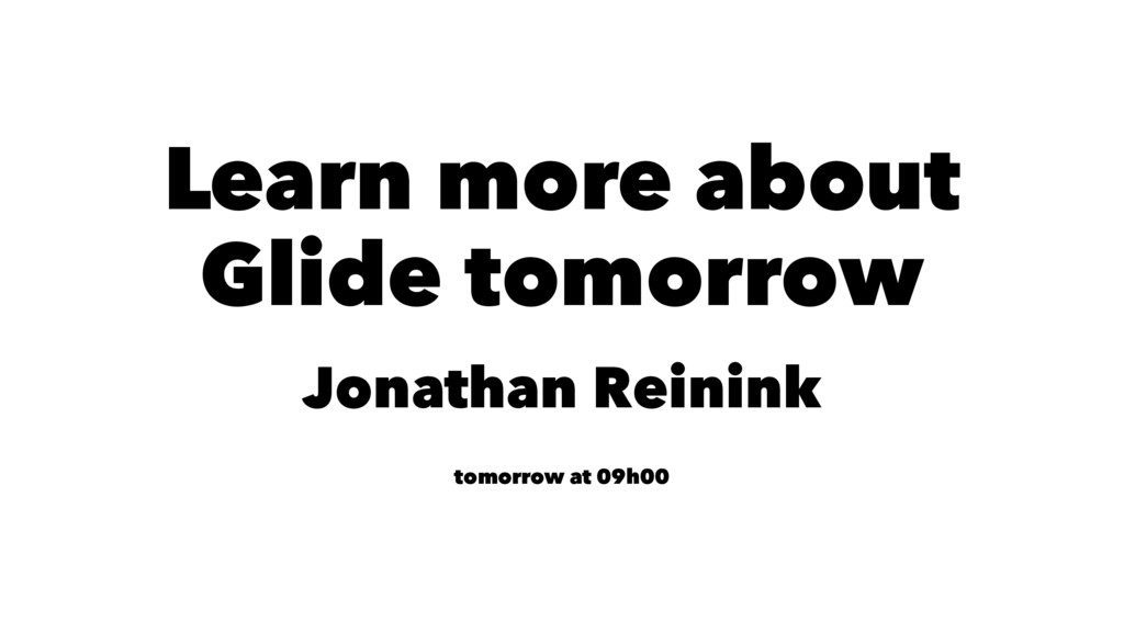 Learn more about Glide tomorrow Jonathan Reinin...