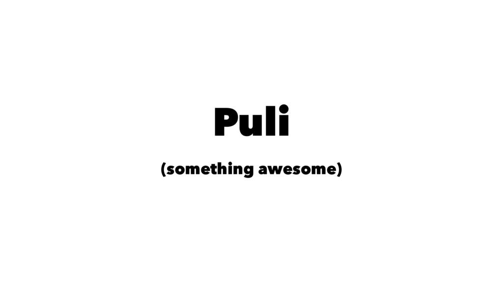 Puli (something awesome)