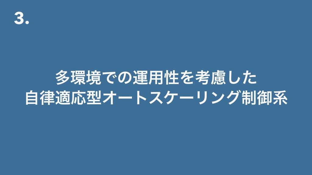 3. ଟڥͰͷӡ༻ੑΛߟྀͨ͠ ࣗదԠܕΦʔτεέʔϦϯά੍ޚܥ
