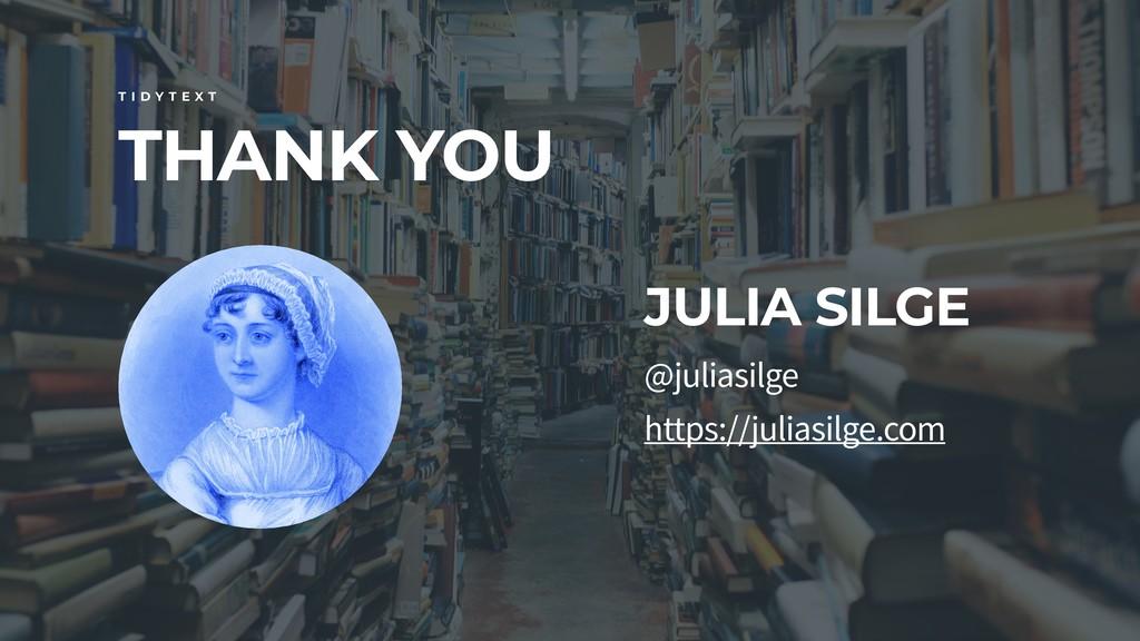 THANK YOU T I D Y T E X T @juliasilge https://j...