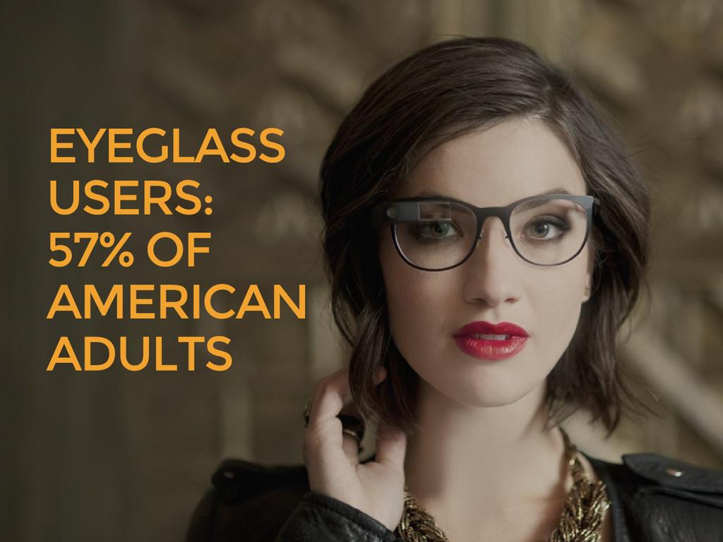 EYEGLASS USERS: 57% OF AMERICAN ADULTS