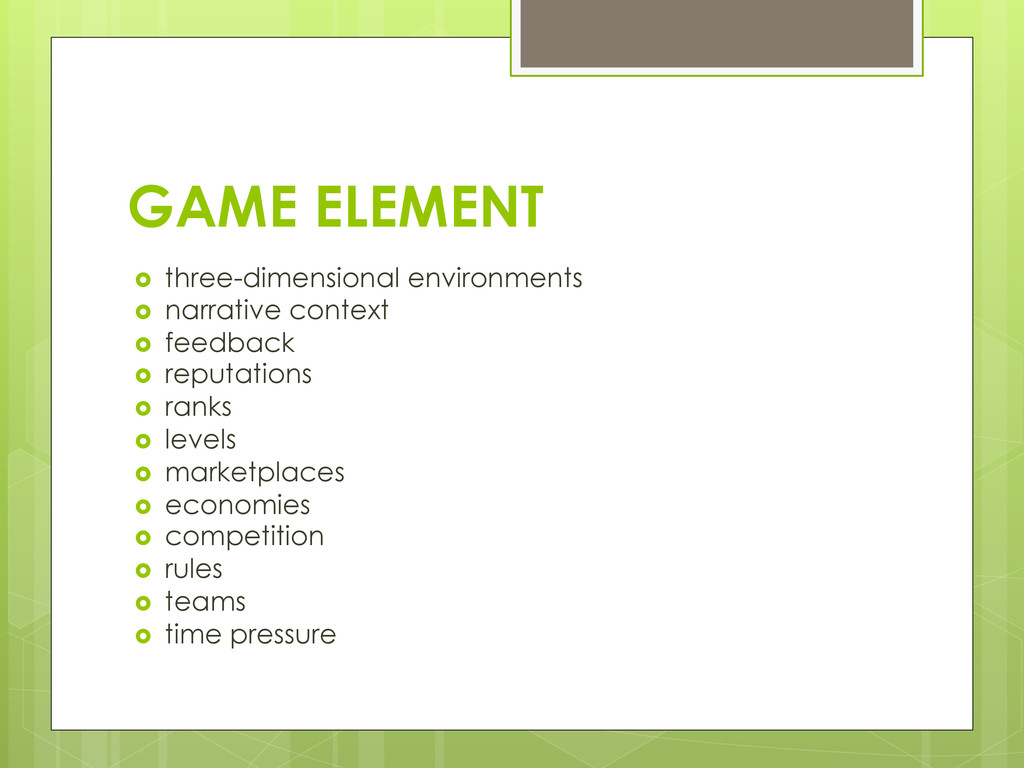 GAME ELEMENT › three-dimensional environments...