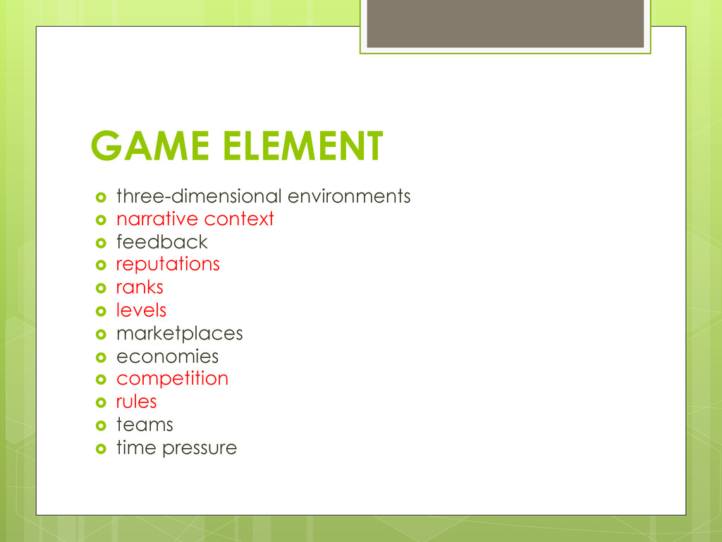 GAME ELEMENT ›  three-dimensional environments...