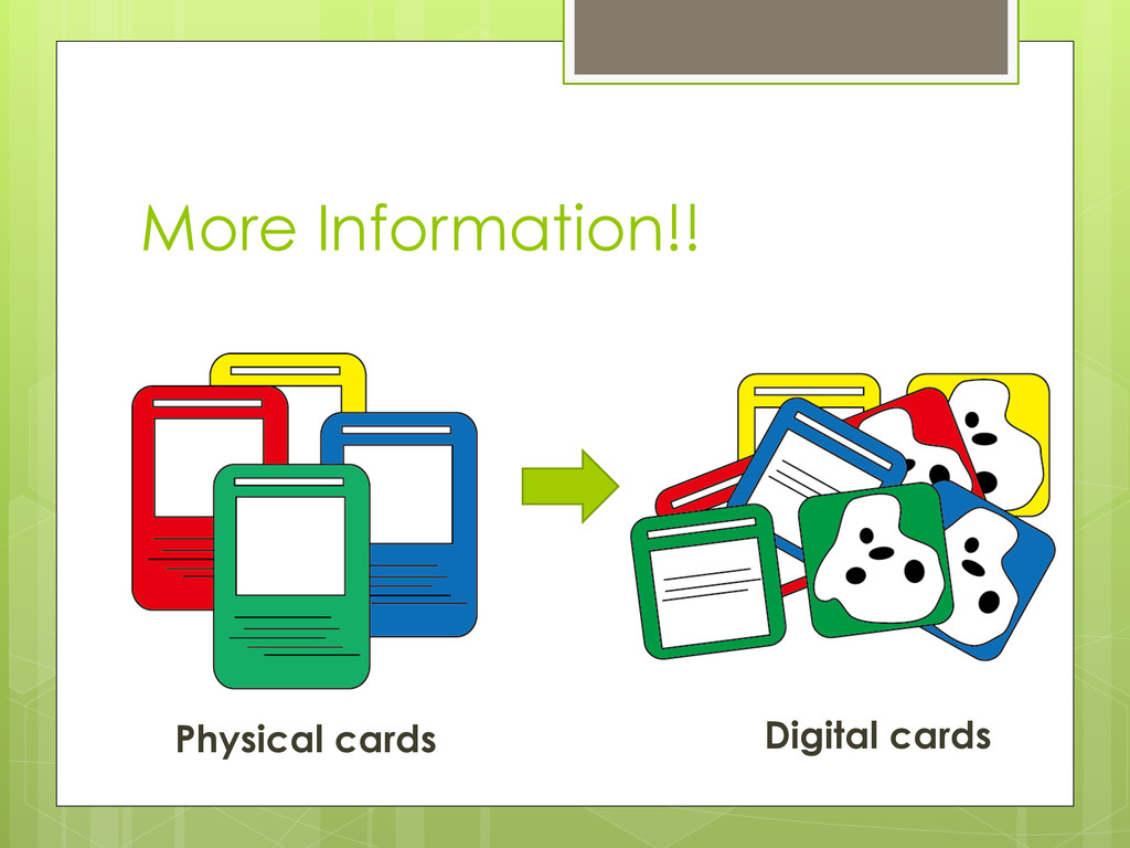More Information!! Physical cards Digital cards