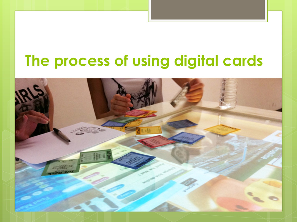 The process of using digital cards