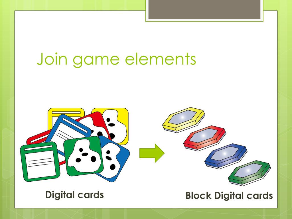 Join game elements Digital cards Block Digital ...