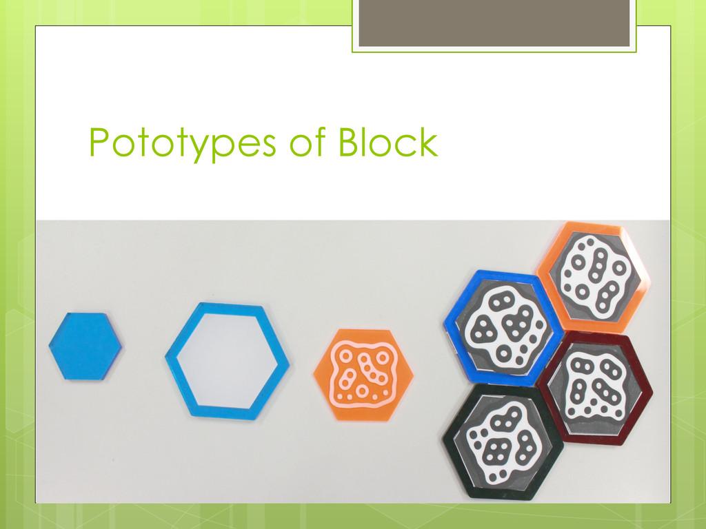 Pototypes of Block