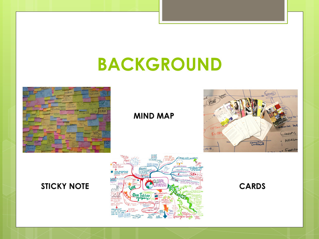 BACKGROUND MIND MAP CARDS STICKY NOTE