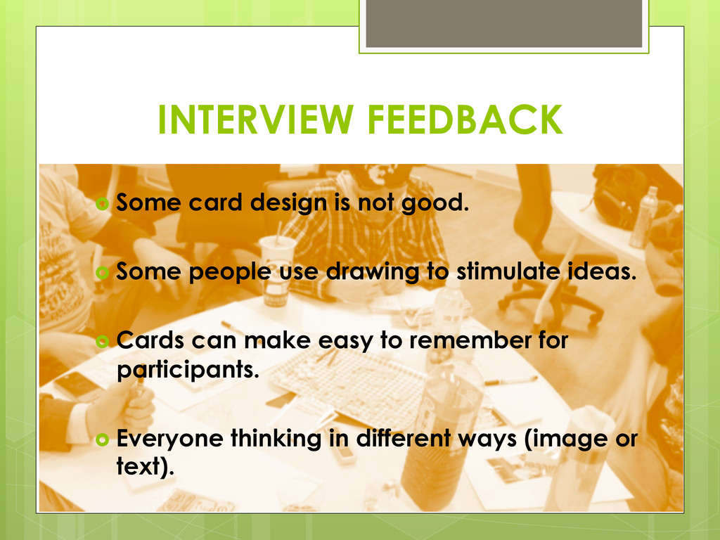 › Some card design is not good. › Some peop...