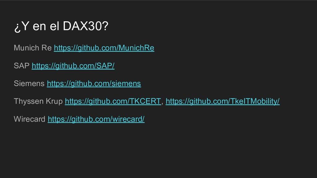 ¿Y en el DAX30? Munich Re https://github.com/Mu...