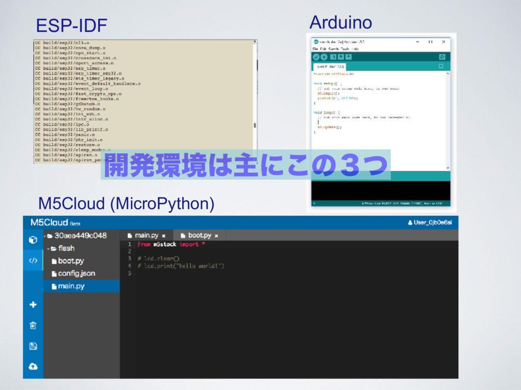 ESP-IDF Arduino M5Cloud (MicroPython) ։ൃڥओʹ͜ͷ...
